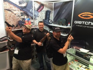 Here we are at the Gletcher booth!  What fun!